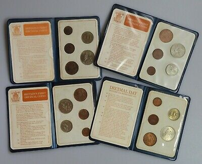4 First Decimal 1971 coin sets