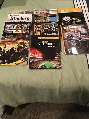 Pittsburgh Steelers Year Books 2001,2003 - 2010, 2014 ,2015 and 2017