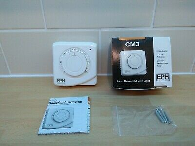 NEW EPH CM3 Room Thermostat With Indicator Light.