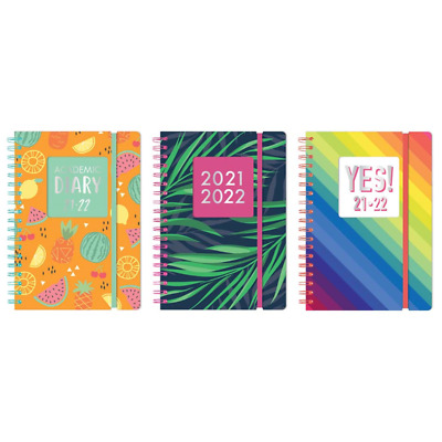 2020-2021 Diary A5 Day to Page Academic Diary Spiral Bound Student Teacher Diary