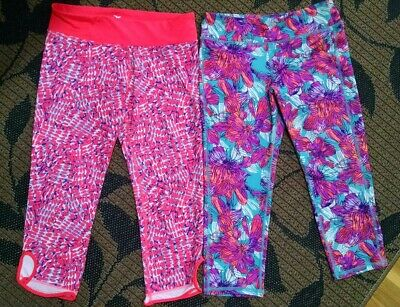 Girls XL 14  Old Navy Go Dry capri pant active wear lot of 2