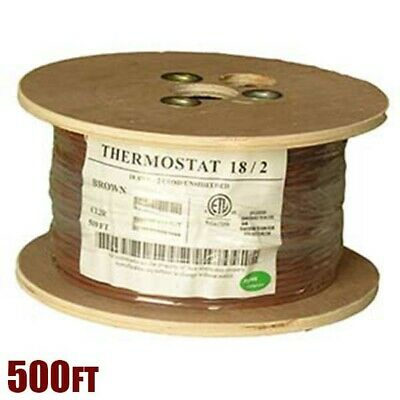 18//3 Thermostat Wire 18 Gauge Solid Copper CMR Heating HVAC AC Cable 500FT