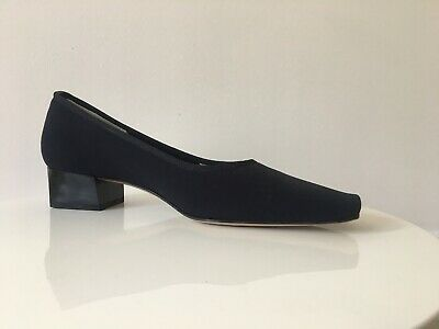 ellie dickins elastic fabric navy shoes sise39~6uk regular fit leather sole
