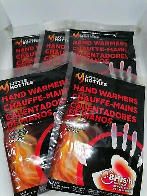 5 Pairs Little Hotties Hand Warmers - 8hrs Pure Heat Glove Warmth