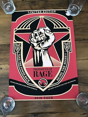 PROPHETS OF RAGE concert gig poster print 2016 TOUR against the machine