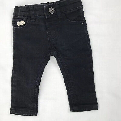 Baby Girl or Boy Unisex RIVER ISLAND Mini Black Jeans Trousers Age 0-3 Months