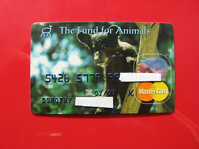 Vintage Old Credit Card The Fund For The Animals Bear Card: Mastercard