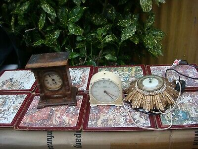Vintage  Mantle Clock & Others  Selling For Spare Or Repair