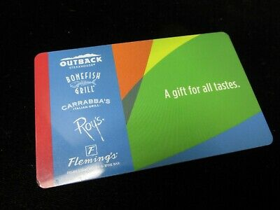 Outback Steakhouse Bonefish Grill Carrabba's Roy's Fleming's Gift Card $23.52