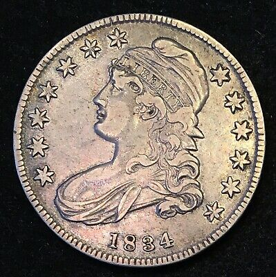 1834 Capped Bust Half Dollar (small date) XF+