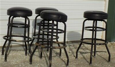 4 Retro Bar Diner Stools Chrome Soda Fountain Store Mid Century 50s 60s 70s h