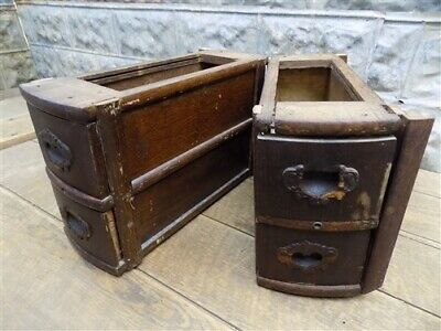 4 Sewing Machine Treadle Cabinet Drawers Singer Display Wood Cubbyhole a35