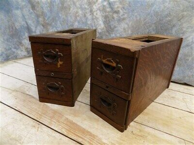 4 Sewing Machine Treadle Cabinet Drawers Singer Display Wood Cubbyhole a53