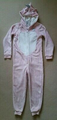 💞🦄Girls Gorgeous Soft Fleecy Unicorn Onesee/All In one/PJs Age 8-9 Years🦄💞