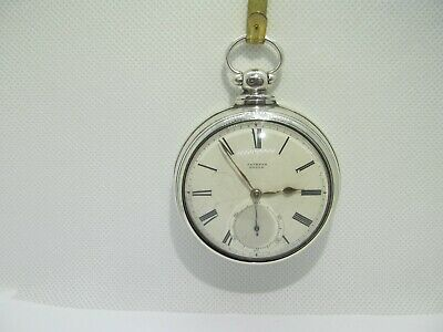 1864 fusee pair cased pocket watch solid silver good condition and working.
