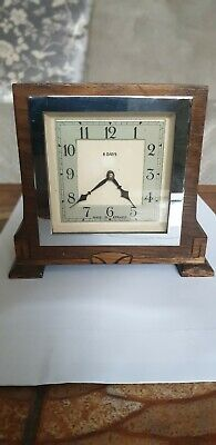 Vintage Smiths Wooden Cased 8day Mantel Clock