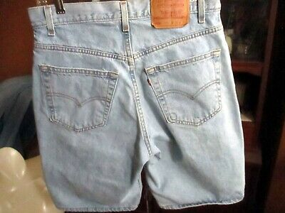 32 TRUE VTG 90s LEVIS 560 RAW DENIM JEAN SHORTS JORTS LOOSE FIT USA