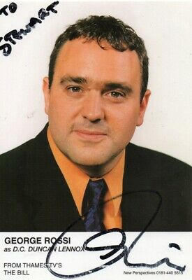 George Rossi Autograph - The Bill - Signed 6x4 Cast Card 3 - Handsigned - AFTAL