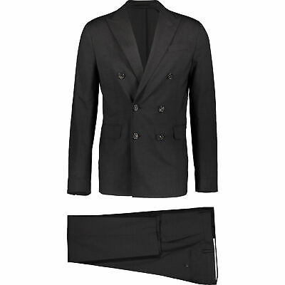 DSQUARED2 Double Breasted 2-Piece Suit - Slim Fit - Charcoal - Size UK40