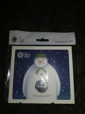 2019 Snowman 50p Brilliant Uncirculated Coin Royal Mint Pack