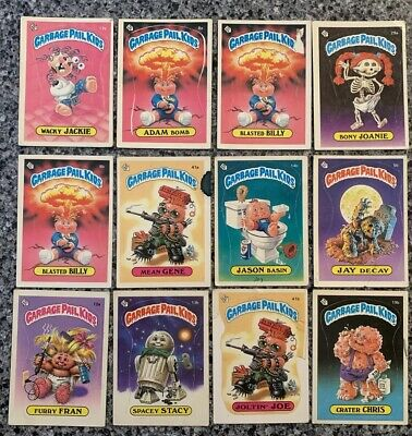 Garbage Pail Kids 1985 Series 1 Cards Lot w/ Adam Bomb + Blasted Billy x2 Glossy