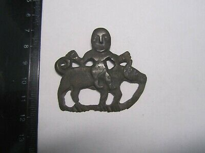 Ancient symbolism Person & bear Vikings-Slavs 7-10th century European medieval