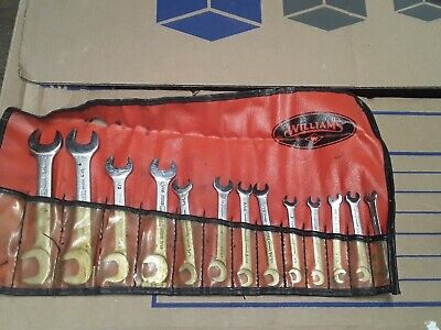 Vintage Williams Superrench Double Open End Wrench Set 13 Wrenches