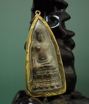 Old Collect Thailand Ayutthaya Maitreya Buddha Incense Ash Card Statue /06 C01
