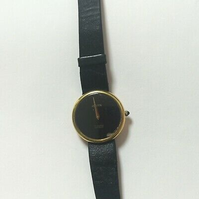 Vintage Provita 17 jewl incablc swiss movement with minimalist black face German
