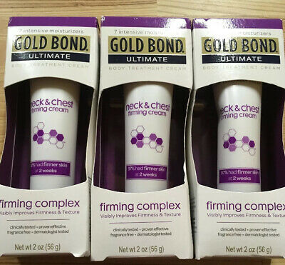 3 Pack Gold Bond Ultimate Firming Neck & Chest Cream 2 Oz Each