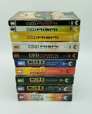 CSI: Miami Complete Series 65 DVDs 2002-2012 Seasons 1 2 3 4 5 6 7 8 9 10 1-10
