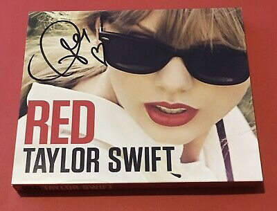 TAYLOR SWIFT - Red - OFFICIAL PLAY.COM SIGNED UK preorder slipcased CD album