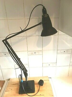 Vintage HERBERT TERRY ANGLEPOISE 1227 crinkle shade 2 tier/pyramid base lamp