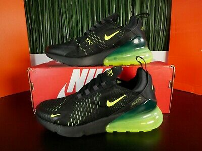 Nike Air Max 270 Black Volt Green Mens Running Shoes AH8050-017 Size 6