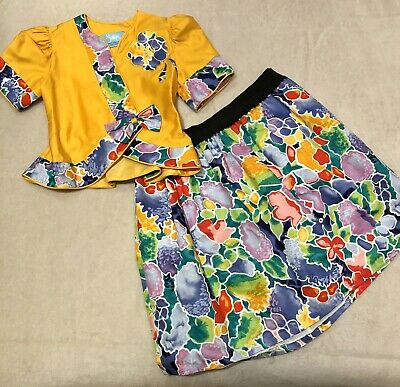 Vintage Girls Top And Skirt Outfit