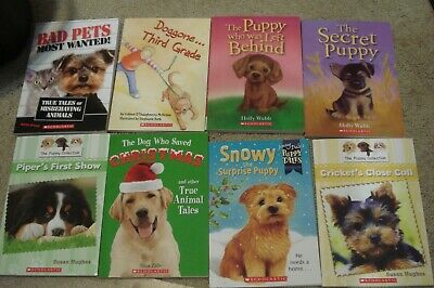 Scholastic CHILDRENS Chapter Books PUPPY COLLECTION BOOKS 8 DIFFERENT