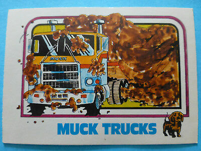 vintage NOS cab over collectible MACK TRUCK 1976 1977 1970s trading card ad part