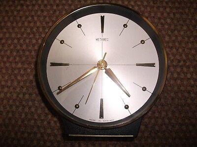 Metamec Early 1970'S Mantle Clock Quartz Movement Gc.    20-01