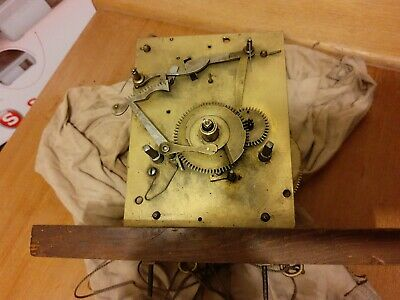 8 Day Longcase Clock Movement Incomplete For Spares