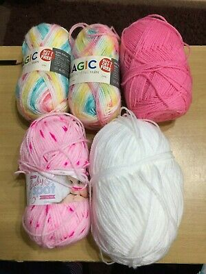Approx 350 Grms Assorted DK Knitting  Yarn