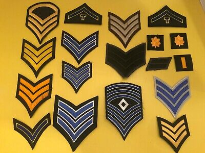 18 vintage patches military police security