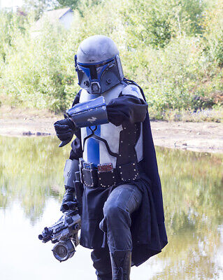 Star Wars Mandalorian costume and helmet for LARP and Cosplay FREE SHIPPING