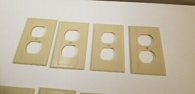 Lot of 4 Vintage   Ivory Duplex receptacle Wall Plate Cover  Bakelite