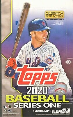 2020 Topps Series 1 Baseball Factory Sealed Hobby Box 1 Silver Pack in every box