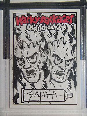 2010 Wacky Packages Old School Series 2 Sketch Card By Zapata - Hostile Finkies