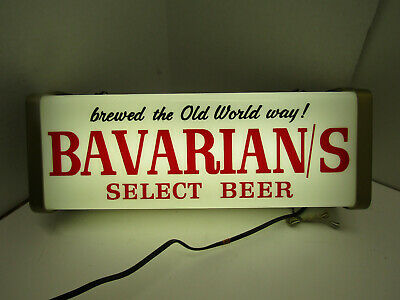 Old Brewed The Old World Way Bavarian's Beer Light Sign Mancave Bar Ware Works