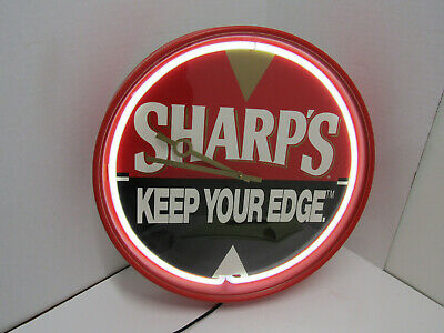 Old Sharp's Keep Your Edge Beer Light Sign Mancave Bar Ware Works