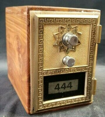 Antique Vintage Post Office Door Mail Box Postal Bank-1966 American Device #444