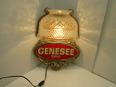 Old Genesee Wall Lamp Beer Light Sign Mancave Bar Ware Works