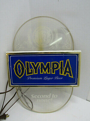 Old Olympia Premium Lager  Beer Light Sign Mancave Bar Ware Works